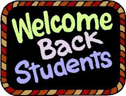 Welcome Back Students!!