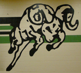 the school mascot. a ram.